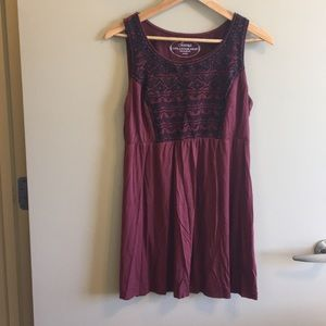 Soma Burnt Red Long Tunic Tank Dress